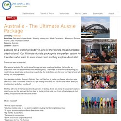 Australia - The Ultimate Aussie Package with Real Gap