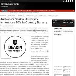 Australia's Deakin University announces 30% In-Country Bursary