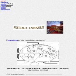 Australia Webquest