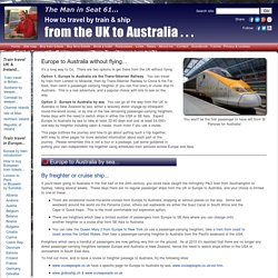 UK to Australia without flying - how to do it!