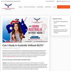 Can I Study in Australia Without IELTS?