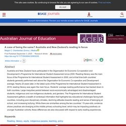 A case of being the same? Australia and New Zealand's reading in focus - Megan C. Chamberlain, Emma J. Medina, 2020