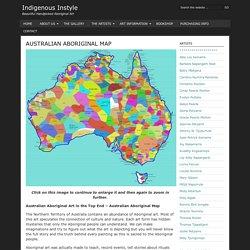 Australian Aboriginal Map - Indigenous Instyle