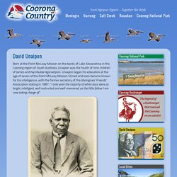 David Unaipon, South Australian Aboriginal inventor - Coorong Country