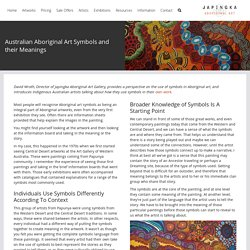 Aboriginal Art Symbols - Japingka Aboriginal Art Gallery