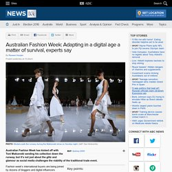 Australian Fashion Week: Adapting in a digital age a matter of survival, experts say