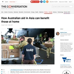How Australian aid in Asia can benefit those at home : theconversation