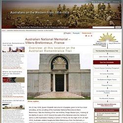 Australian National Memorial, Villers‑Bretonneux