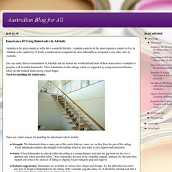 Importance Of Using Balustrades In Adelaide