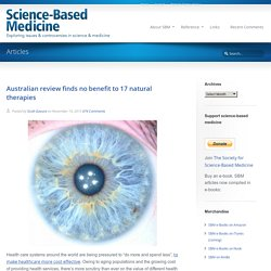 Australian review finds no benefit to 17 natural therapies