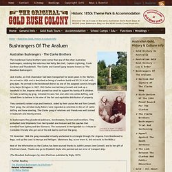 Australian Gold, History & Culture Info - Historic Gold Rush Village Mogo South Coast NSW Australia
