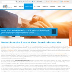 Australian Business Visa: Australian Business Visa in UK - ASC Migration