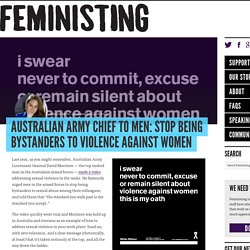 Australian Army chief to men: Stop being bystanders to violence against women