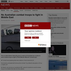 No Australian combat troops to fight in Middle East