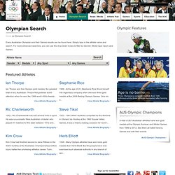 Australian Olympic Committee: Olympian Search