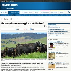 Mad cow disease warning for Australian beef