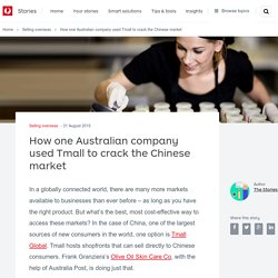 How one Australian company used Tmall to crack the Chinese market - Stories