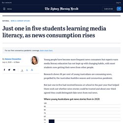 Media literacy concerns for Australian students amid rise in news consumption