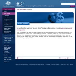 Buyer finance Australian Export Finance and Insurance Corporation