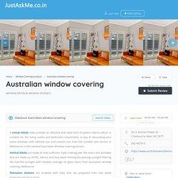 Australian window covering - JustAskMe