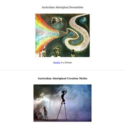 Australian Aboriginal Dreamtime, Mythology