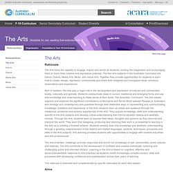 The Australian Curriculum v6.0 The Arts: Rationale/Aims