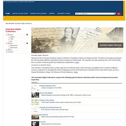 Australian Digital Collections