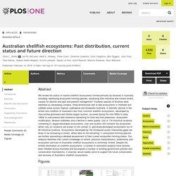 PLOS 14/02/18 Australian shellfish ecosystems: Past distribution, current status and future direction