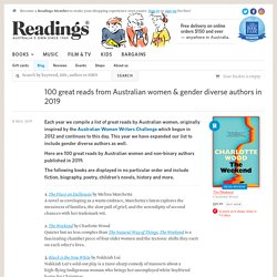 100 great reads from Australian women & gender diverse authors in 2019