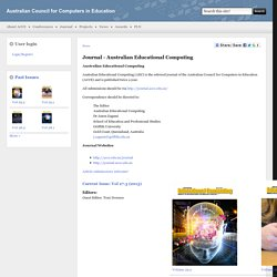 Journal - Australian Educational Computing | Australian Council for Computers in Education