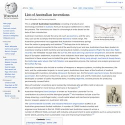 List of Australian inventions