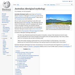 Australian Aboriginal mythology