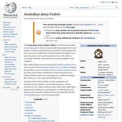 Australian Army Cadets