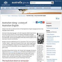 Australian slang - a story of Australian English