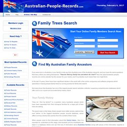 Australian Family Tree Search