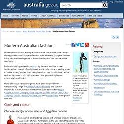 Modern Australian fashion