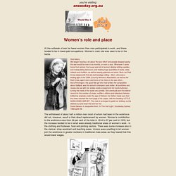 The Australian Home Front during World War 1 - Women s role and place