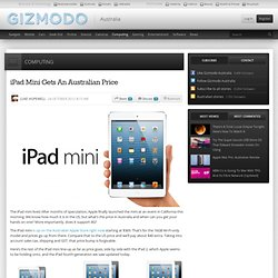 iPad Mini Gets An Australian Price