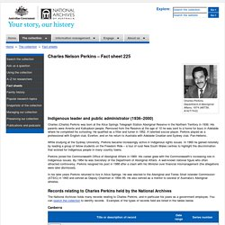 Charles Nelson Perkins - Fact sheet 225 – National Archives of Australia, Australian Government