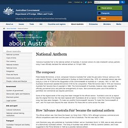 National Anthem - About Australia - Australian Government Department of Foreign Affairs and Trade