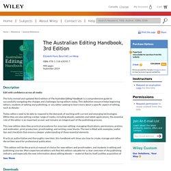 The Australian Editing Handbook, 3rd Edition - Elizabeth Flann, Beryl Hill, Lan Wang