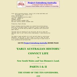 Early Australian History, by Charles White