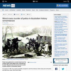 Worst mass murder of police in Australian history remembered