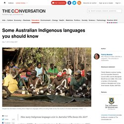 Some Australian Indigenous languages you should know