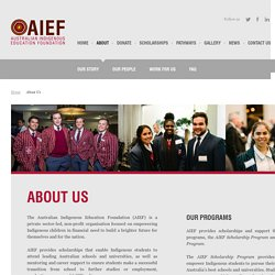 About Us - Australian Indigenous Education Foundation