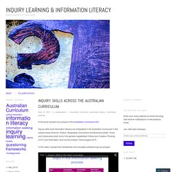 Inquiry skills across the Australian Curriculum