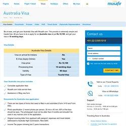Australia Visa - Australian Visa Information - Musafir