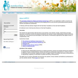 Australian Institute for Patient and Family Centred Care