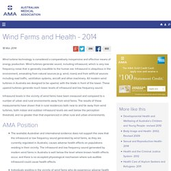 Wind Farms and Health - 2014