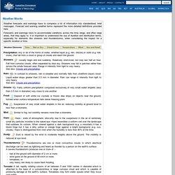 Australian Bureau of Meteorology - Weather Words